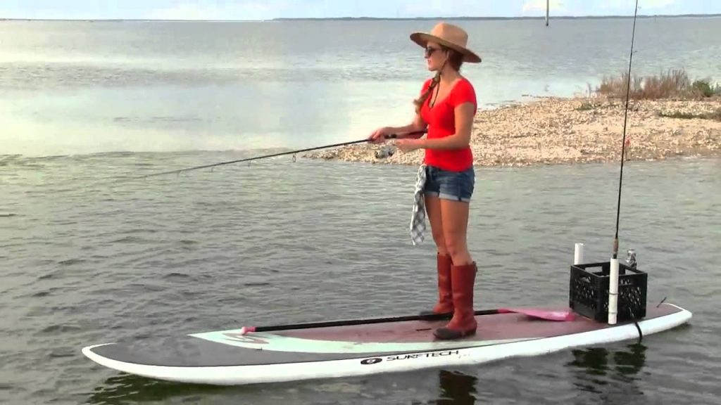 fishing on a sup