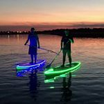 Paddle board lights under the SUP at night